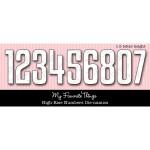 DIE-NAMICS HIGH-RISE NUMBERS DIE SET from My Favorite Things MFT Stamps