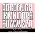 DIE-NAMICS HIGH-RISE ALPHABET UPPERCASE DIE SET from My Favorite Things MFT Stamps