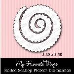 DIE-NAMICS ROLLED SCALLOP FLOWER DIE from My Favorite Things MFT Stamps