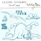 DIN-O-MITE! Clear Stamp Set from Tiddly Inks