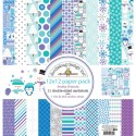 """FROSTY FRIENDS 12""""x12"""" Paper Pack Frosty Friends Collection from Doodlebug Designs"""