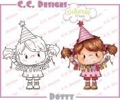 DOTTY Rubber Stamp from Pollycraft