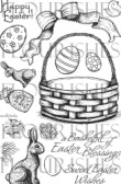 EASTER BASKET Clear Stamp Set from Flourishes