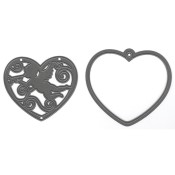 New! FILIGREE ANGEL HEART Craftables Die from Marianne Design