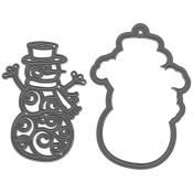 New! FILIGREE SNOWMAN Craftables Die from Marianne Design