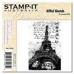 EIFFEL SKETCH Stamp It Australia Discovery Collection from Crafter's Companion