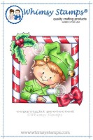 ELF FRAME Rubber Stamp Crissy Armstrong Collection from Whimsy Stamps