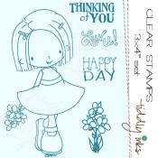 ELLIE SAYS BE HAPPY Clear Stamp Set from Tiddly Inks