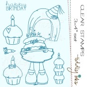 ELLIE SAYS HAPPY BIRTHDAY Clear Stamp Set from Tiddly Inks