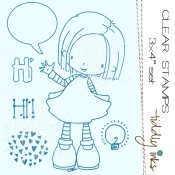 ELLIE SAYS HI Clear Stamp Set from Tiddly Inks