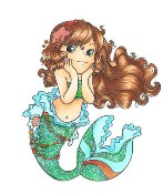 ANNABEL THE MERMAID Rubber Stamp from Crafty Sentiments Designs