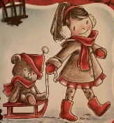 COME ON TEDDY Rubber Stamp Set It's The Season Christmas Collection from Crafty Sentiments Designs