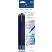 MIX & MATCH ART GRIP AQUARELLE WATERCOLOR PENCILS - BLUE from Faber-Castell