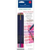 MIX & MATCH ART GRIP AQUARELLE WATERCOLOR PENCILS - RED from Faber-Castell