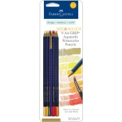 MIX & MATCH ART GRIP AQUARELLE WATERCOLOR PENCILS - YELLOW from Faber-Castell