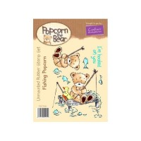 FISHING POPCORN Popcorn the Bear Stamp Set from Crafter's Companion