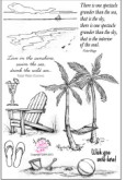 BEACH LIFE Clear Stamp Set from Flourishes