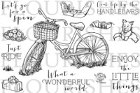 BIKE RIDE Clear Stamp Set from Flourishes