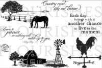 COUNTRY ROAD Clear Stamp Set from Flourishes