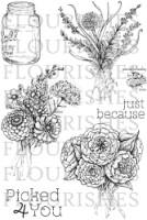 GARDEN PICKS Clear Stamp Set from Flourishes