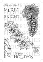 NATURALLY MERRY Clear Stamp Set from Flourishes