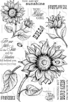SUNFLOWERS Clear Stamp set from Flourishes