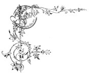 New! FLOWER CORNER Rubber Stamp Once Upon a Time Collection from Magnolia