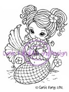 FLOWERS ON THE BEACH Rubber Stamp Conie Fong Collection from Sweet Pea Stamps