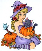 KIKI'S PUMPKIN Rubber Stamp Conie Fong Collection from Sweet Pea Stamps