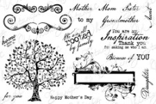 FOR THE WOMEN IN OUR LIVES Rubber Stamp Set from the Whimsy Stamps Sentiments Collection