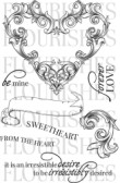 FROM THE HEART Clear Stamp Set from Flourishes