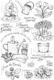 FROM THE GARDEN Clear Stamp Set from Flourishes