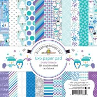 FROSTY FRIENDS Paper Pad 6x6 Frosty Friends Collection from Doodlebug Designs