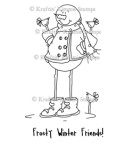 FROSTY WINTER FRIENDS Rubber Stamp Cheryl Alger Collection from Kraftin Kimmie Stamps