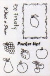 FRUIT SALAD Cookbookin Clear Stamp Set from PKJ Designs