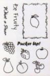 FRUIT SALAD Cookbookin Clear Stamp Set from PKJ Designs