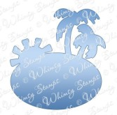 FUN IN THE SUN Whimsy Stamps Shapeology Die