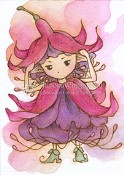 FUCHSIA SPRITE Rubber Stamp Aurora Wings Mitzi Sato-Wiuff Collection from Sweet Pea Stamps