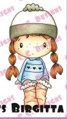 FUZZY BOOTS BIRGITTA Rubber Stamp Swiss Pixies Collection from C.C. Designs