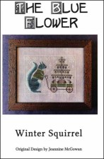 WINTER SQUIRREL Counted Cross Stitch Pattern from The Blue Flower