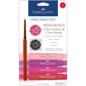 MIX & MATCH RED GELATOS WITH CLEAR STAMP from Faber-Castell