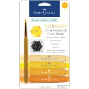 MIX & MATCH YELLOW GELATOS WITH CLEAR STAMP from Faber-Castell