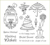 GETTIN' HITCHED Stamp Set Lizzie Anne Designs from Gourmet Rubber Stamps