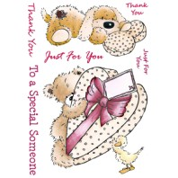 A GIFT FOR YOU Popcorn the Bear Stamp Set from Crafter's Companion