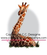 GIRAFFE Rubber Stamp DoveArt Studio Collection from C.C. Designs