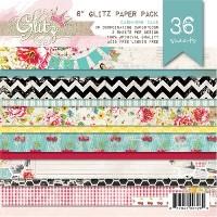 CASHMERE DAME 6X6 Scrapbook Pattern Paper pack from Glitz Design