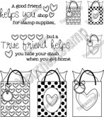 A GOOD FRIEND Rubber Stamp Set Heather Designs Collection from Your Next Stamp