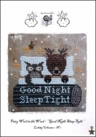 GOOD NIGHT SLEEP TIGHT Cross Stitch Pattern from Fairy Wool in the Wood