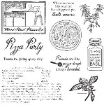 SPICE UP YOUR DAY Rubber Stamp Set Lizzie Anne Designs from Gourmet Rubber Stamps