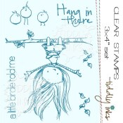 HANG IN THERE Clear Stamp Set from Tiddly Inks